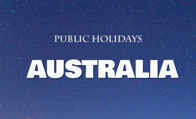 Australia Public Holidays List