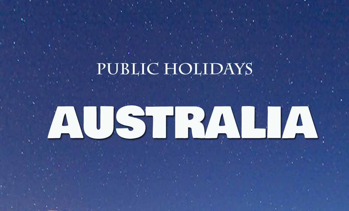Australia Public Holidays List 2021