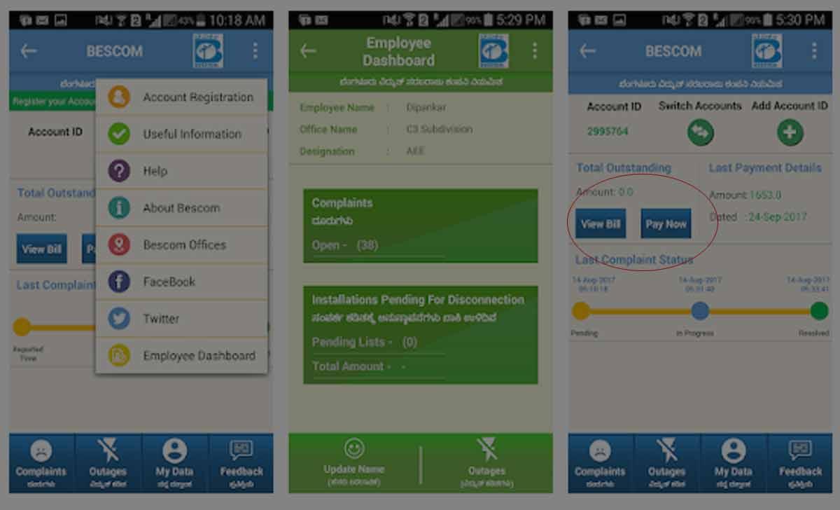 BESCOM Bill Payment App