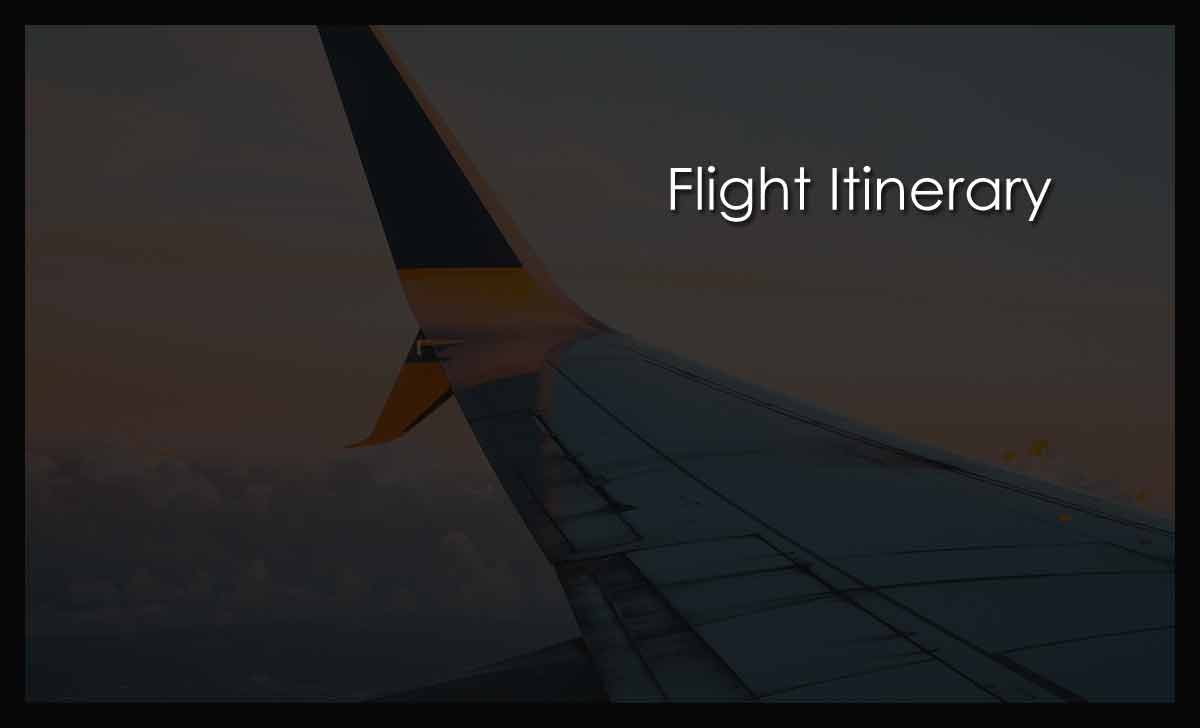 Flight Itinerary Pre Booking for Overseas Employee Before VISA