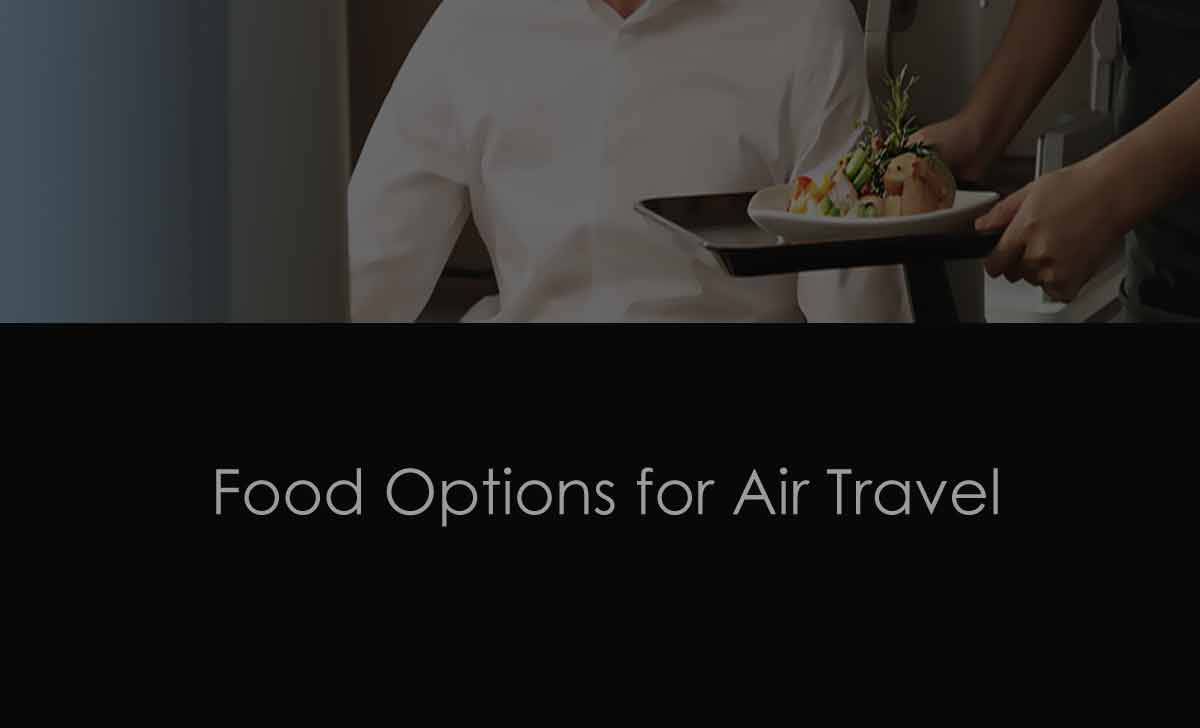 Food Options on Flight Travel Booking