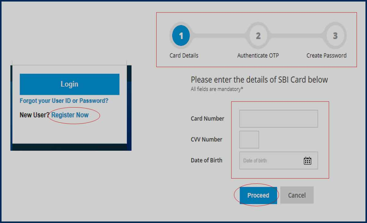 SBI Credit Card Login